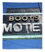 Route 66 - Boots Motel Fleece Blanket