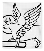 Saint Luke Fleece Blanket