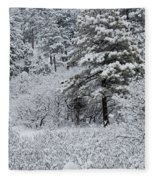Snowstorm In The Pike National Forest Fleece Blanket