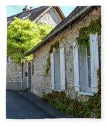 Street Scenes From Giverny France Fleece Blanket