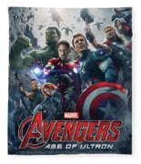 The Avengers Age Of Ultron 2015  Fleece Blanket