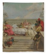 The Banquet Of Cleopatra Fleece Blanket