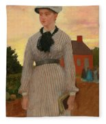 The Red School House Fleece Blanket
