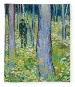 Undergrowth With Two Figures Fleece Blanket