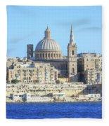 Valletta - Malta Fleece Blanket