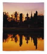 Wat Mahathat Fleece Blanket