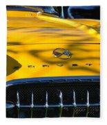 Yellow Corvette Fleece Blanket