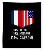 50 Dutch 50 American 100 Awesome Fleece Blanket