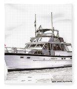 50 Foot Hatteras Motoryacht Fleece Blanket