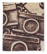 50s Brownie Cameras Fleece Blanket
