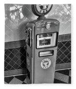 50's Gas Pump Bw Fleece Blanket