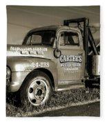 50's Wrecker Truck Fleece Blanket