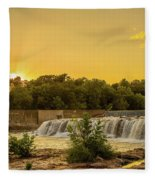 Grand Falls Waterfall Fleece Blanket