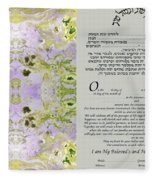 Interfaith Or Reformed Ketubah To Fill Fleece Blanket