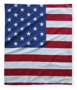 Usa Flag Fleece Blanket