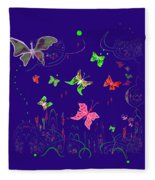 558   Butterflies  V Fleece Blanket