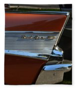 57 Chevy Fin Fleece Blanket