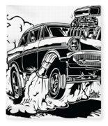 '57 Gasser Cartoon Fleece Blanket