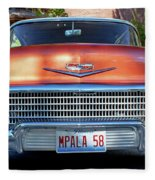 '58 Chevy Comin' Atcha Fleece Blanket