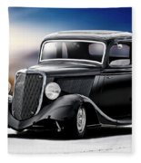 1934 Ford Five-window Coupe Fleece Blanket