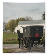 Amish Buggy Fleece Blanket