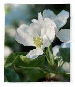 Apple Flowers Fleece Blanket