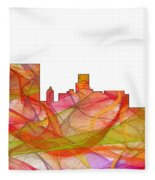 Augusta Georgia Skyline Fleece Blanket