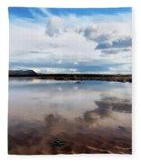 Back Beach - Lyme Regis Fleece Blanket