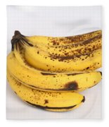 Banana Ripening Sequence Fleece Blanket