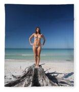 Beach Girl Fleece Blanket
