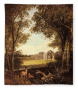 Boddington Henry John A View Of Norton Hall Henry John Boddington Fleece Blanket