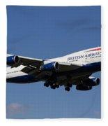 British Airways Boeing 747 Fleece Blanket