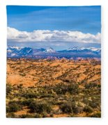 Canyon Badlands And Colorado Rockies Lanadscape Fleece Blanket