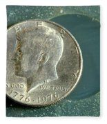 Coin Containing Silver Inhibits Fleece Blanket