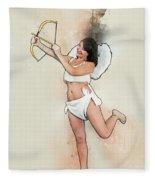 Cupid The God Of Desire Fleece Blanket