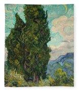 Cypresses Fleece Blanket