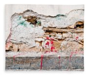 Damaged Wall Fleece Blanket