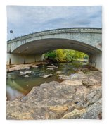 Downtown Of Greenville South Carolina Around Falls Park Fleece Blanket