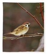 Eurasian Tree Sparrow Fleece Blanket