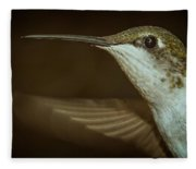 Female Ruby-throated Hummingbird Fleece Blanket