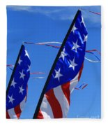 Patriotic Flying Kite Fleece Blanket