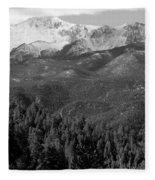 Fresh Snow On Pikes Peak Fleece Blanket