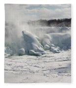 Frozen Niagara Falls Fleece Blanket