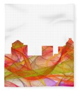 Greensboro North Carolina Skyline Fleece Blanket
