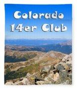 Hikers And Scenery On Mount Yale Colorado Fleece Blanket