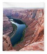 Horseshoe Bend Colorado River Arizona Usa Fleece Blanket