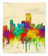 Jersey City New Jersey Skyline Fleece Blanket