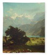 Lake Lucerne Fleece Blanket