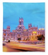 Madrid, Spain Fleece Blanket