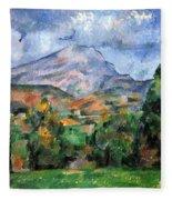 Montagne Sainte-victoire Fleece Blanket